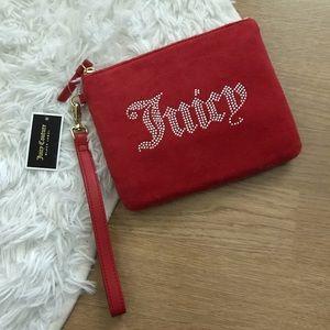 NWT Red Velour Juicy Wristlet